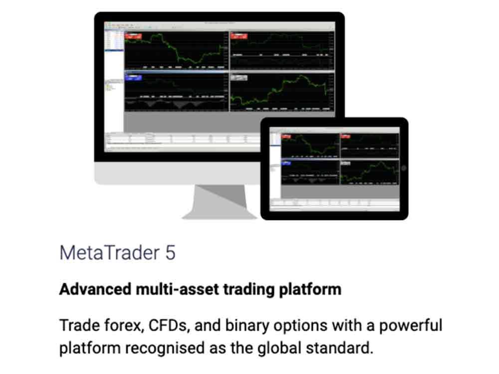 Binary.com - CFD 및 외환거래를 위한 Meta Trader 5 플랫폼