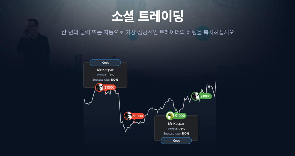 Pocket Option (포켓 옵션) - 소셜 트레이딩